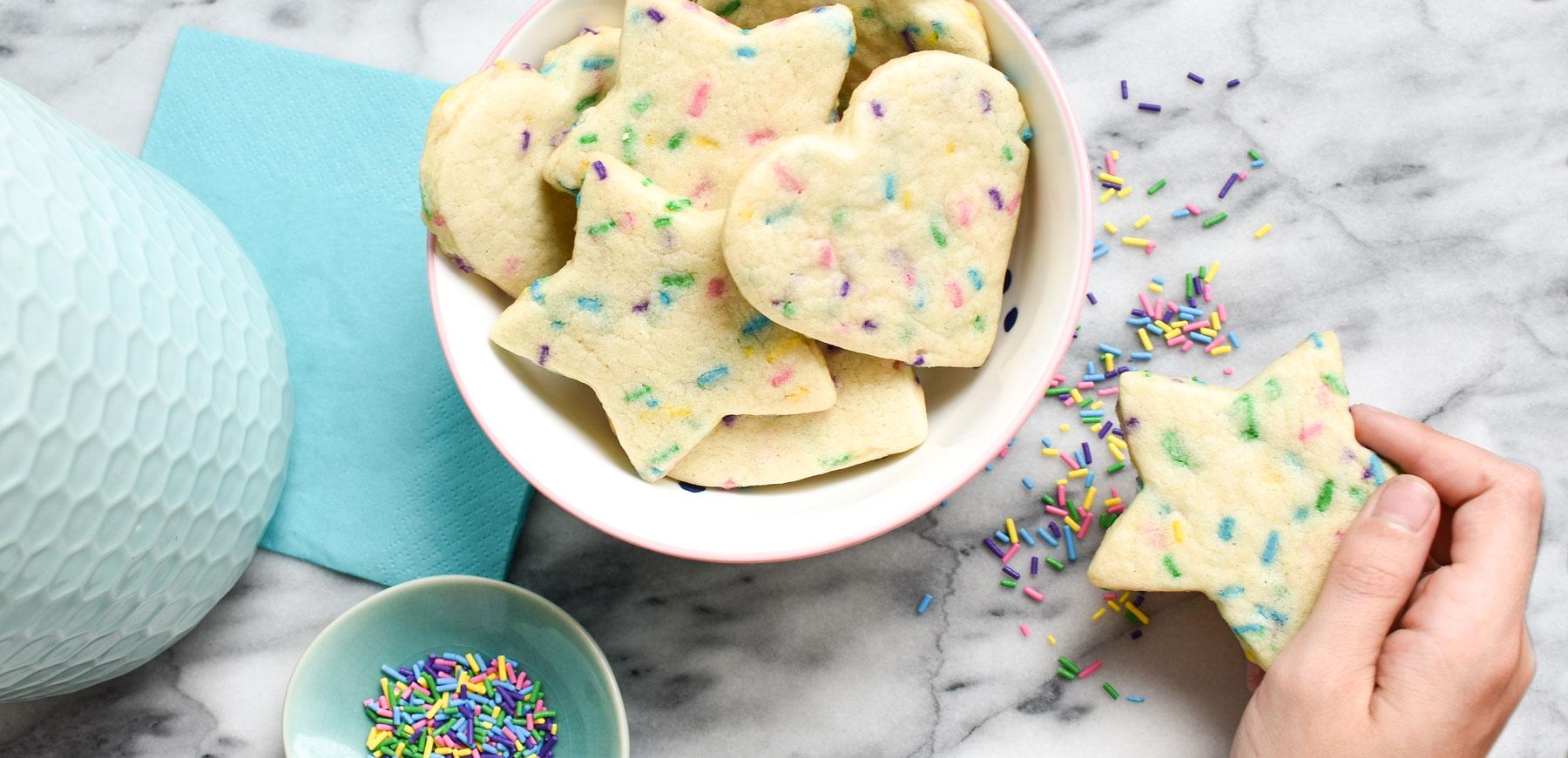Allergy-Friendly funfetti sugar cookies