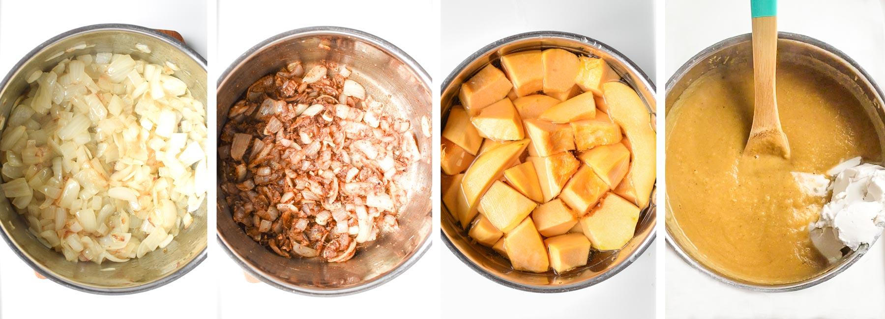 Cozy Squash Soup Recipe Process